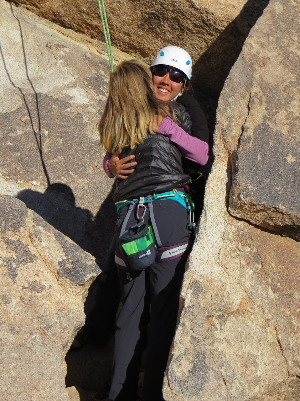 hug your belayer!
